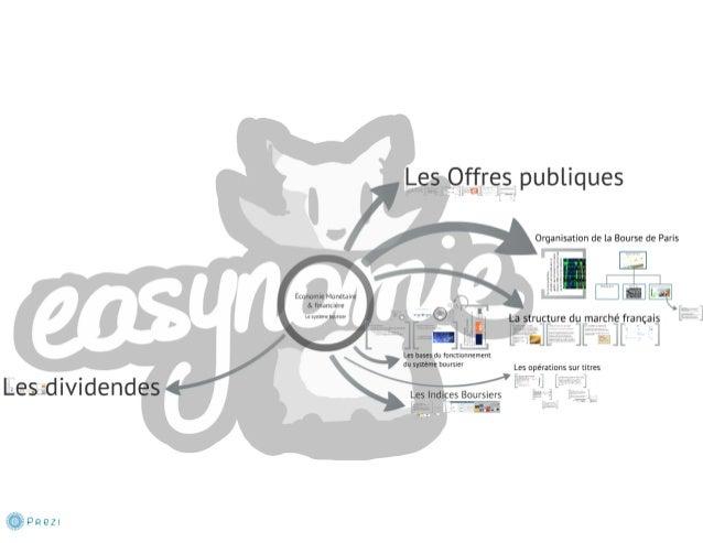 Le système boursier 2 - La structure du marché français