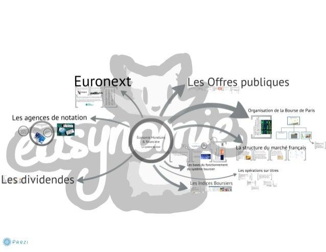 Le système boursier 7 - Les agences de notation et Euronext