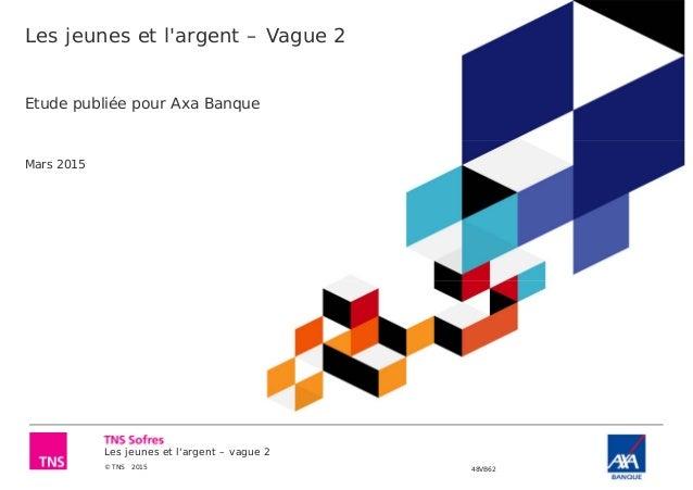 Les jeunes et l'argent – vague 2 © TNS 2015 48VB62 Les jeunes et l'argent – Vague 2 Etude publiée pour Axa Banque Mars 2015