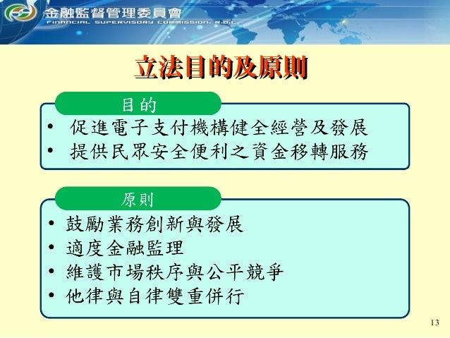 13 立法目的及原則立法目的及原則