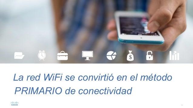 30 La red WiFi se convirtió en el método PRIMARIO de conectividad
