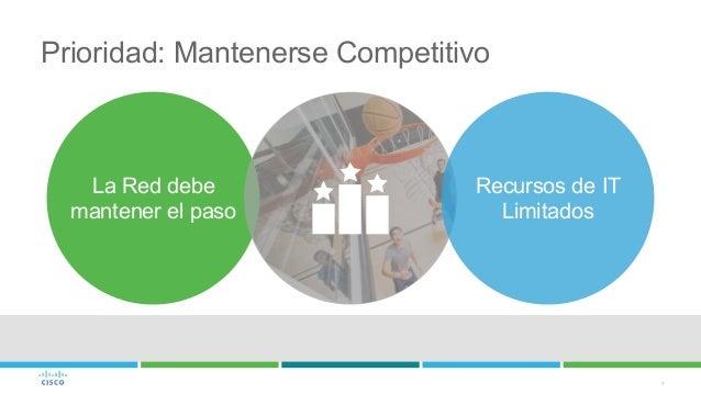 4 Prioridad: Mantenerse Competitivo La Red debe mantener el paso Recursos de IT Limitados