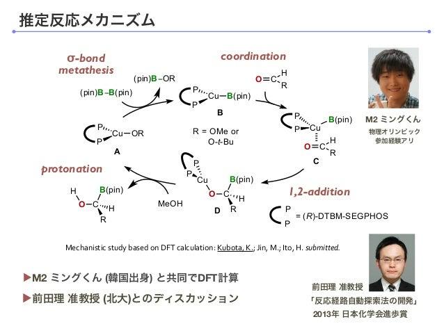 coordinationσ-bond metathesis protonation isomerization (racemization?) Cu B(pin) P P Cu B(pin) P P O C H R O C Cu R B(pin...