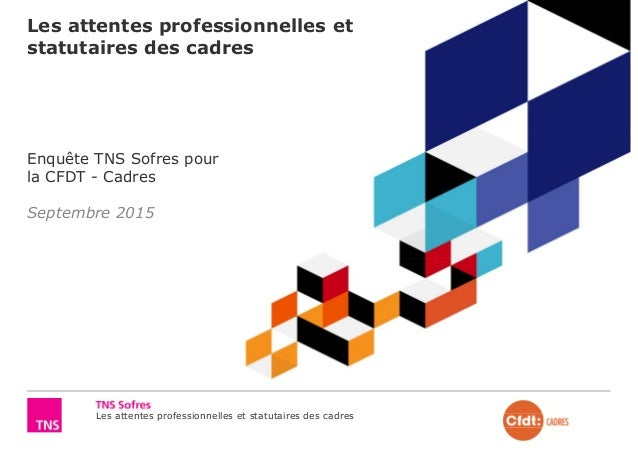 Les attentes professionnelles et statutaires des cadres Les attentes professionnelles et statutaires des cadres Enquête TN...