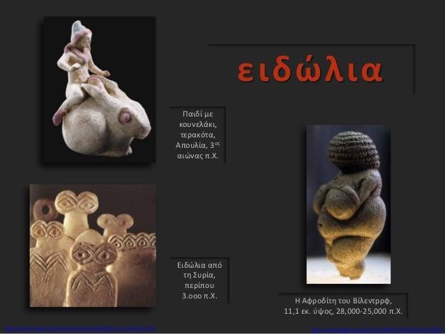 ειδώλια Η Αφροδίτη του Βίλεντρρφ, 11,1 εκ. ύψος, 28,000-25,000 π.Χ. http://worldimages.sjsu.edu/VieO55696?sid=80576&x=2970...