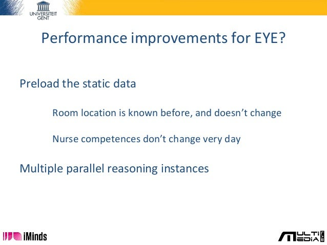 Performance improvements for EYE? Preload the static data Room location is known before, and doesn't change Nurse competen...