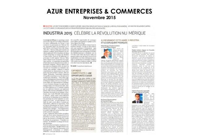 AZUR ENTREPRISES & COMMERCES Novembre 2015