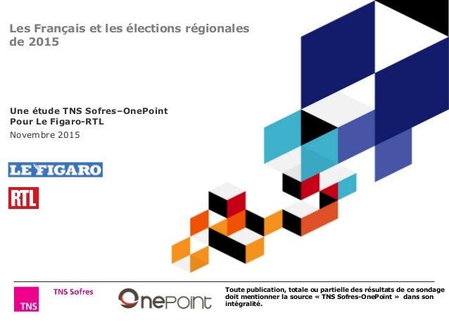 Toute publication, totale ou partielle des résultats de ce sondage doit mentionner la source « TNS Sofres-OnePoint » dans ...