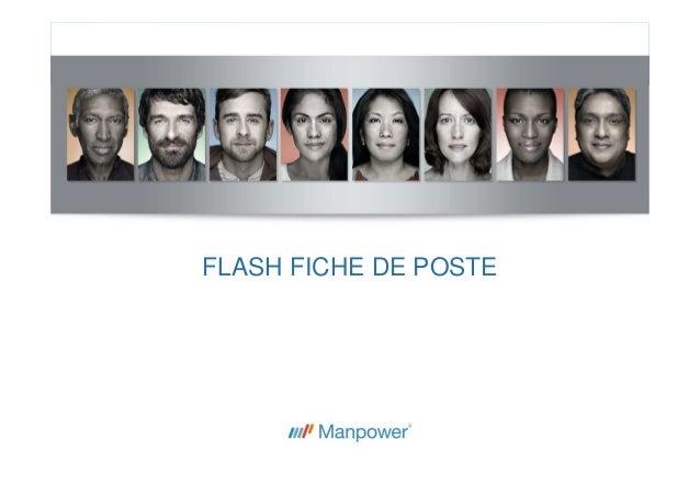 FLASH FICHE DE POSTE