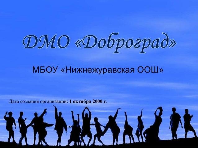 МБОУ «Нижнежуравская ООШ» Дата создания организации: 1 октября 2000 г.