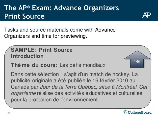 2015 16 ap french language and culture workshop ppt questions 29 29 sample print source introduction spiritdancerdesigns Images