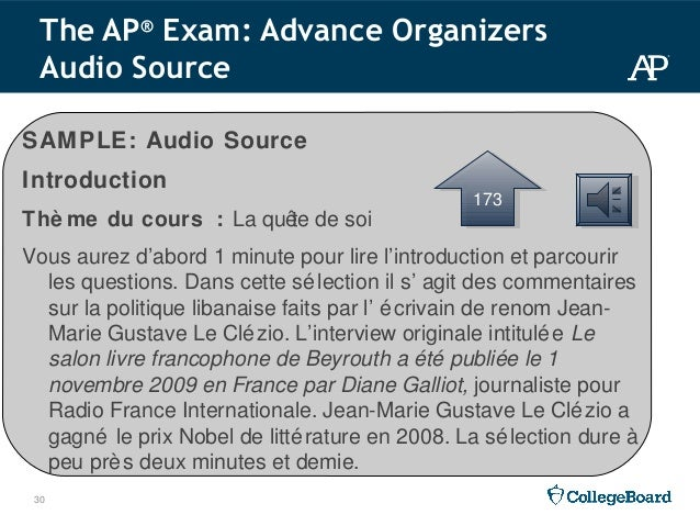 2015 16 ap french language and culture workshop ppt 146146 30 30 sample audio source introduction spiritdancerdesigns Images
