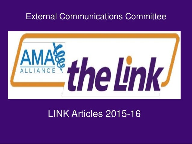 External Communications Committee LINK Articles 2015-16