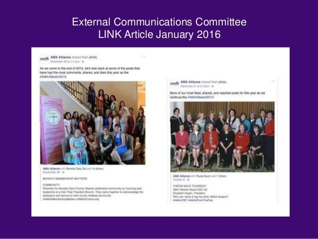 External Communications Committee LINK Article January 2016