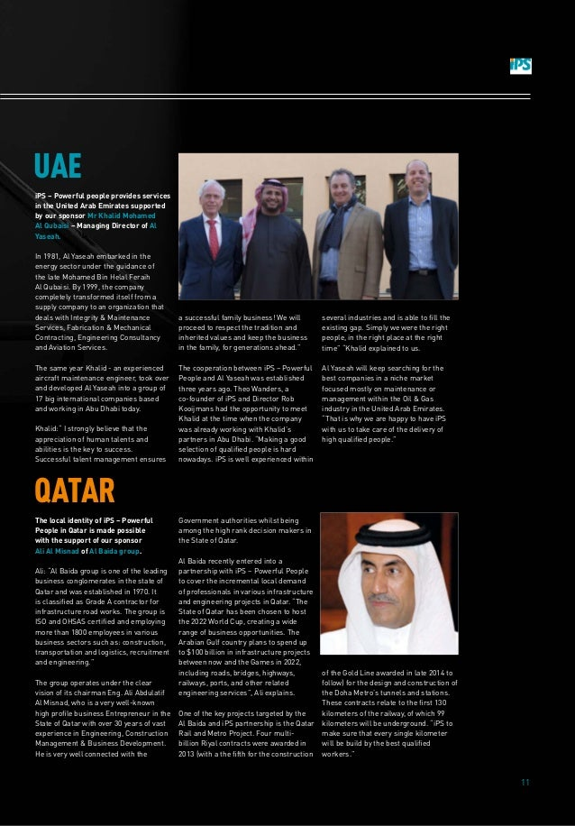 11 iPS – Powerful people provides services in the United Arab Emirates supported by our sponsor Mr Khalid Mohamed Al Qubai...