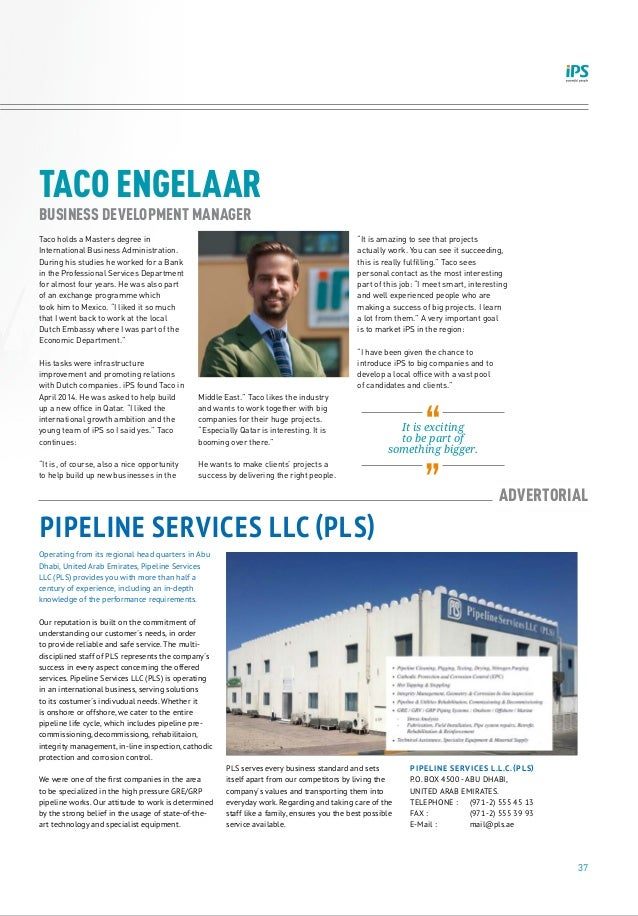 37 TACO ENGELAAR BUSINESS DEVELOPMENT MANAGER Taco holds a Masters degree in International Business Administration. During...