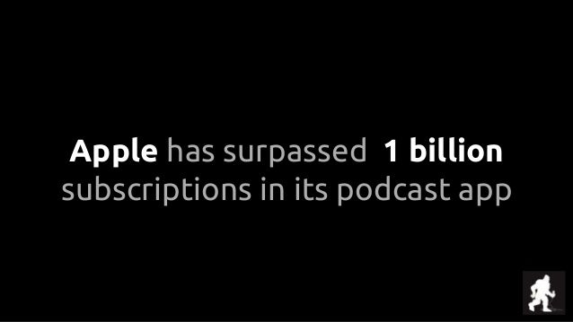 Apple has surpassed 1 billion subscriptions in its podcast app