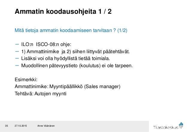 Tilastokeskuksen Ammattiluokitus