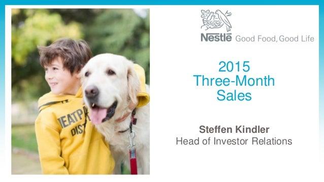 Steffen Kindler Head of Investor Relations 2015 Three-Month Sales