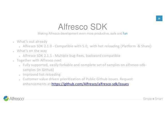 Alfresco Day Amsterdam 2015 - Developer Platform Updates