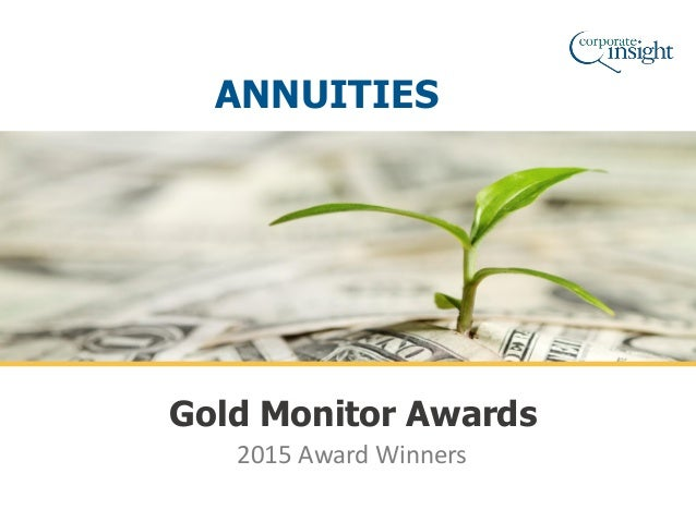 2015 Award Winners Gold Monitor Awards ANNUITIES