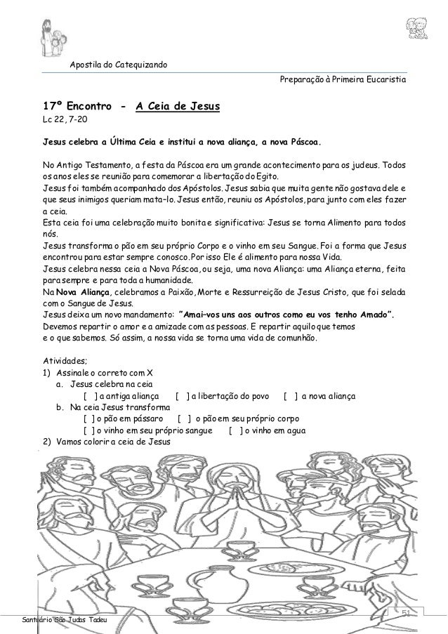Desenhos Da Eucaristia Para Colorir