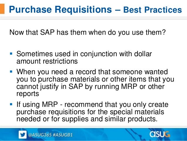 Best Practices for Purchasing and Materials Management Presented at …