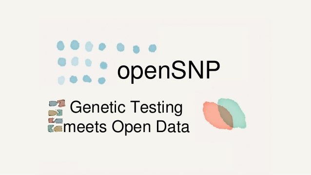 openSNP Genetic Testing meets Open Data