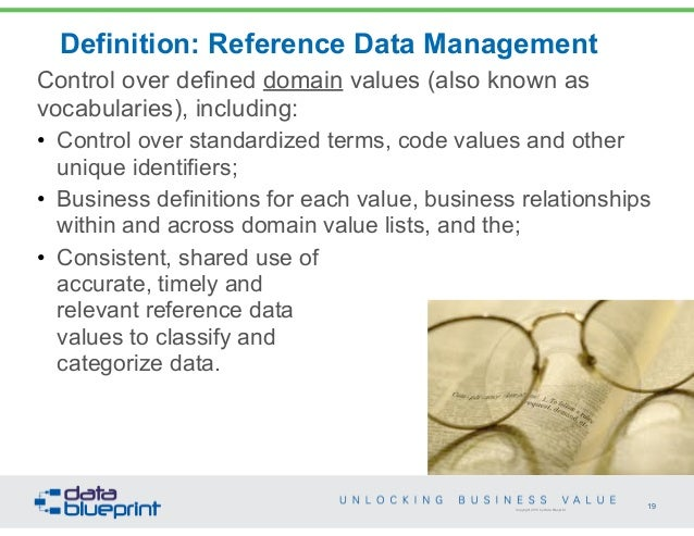 Data ed online webinar business value from mdm business question 19 copyright 2013 by data blueprint definition malvernweather Gallery