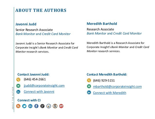 ABOUT THE AUTHORSABOUTTHEAUTHOR Contact Javonni Judd: (646) 454-2661 jjudd@corporateinsight.com Connect with Javonni Conne...
