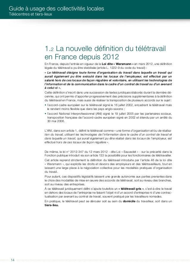 éditorial 15 De quoi parle t-on ? RAPPEL DES NOTIONS CLéS Exemple de configuration d'un télécentre. Salles de conférence e...