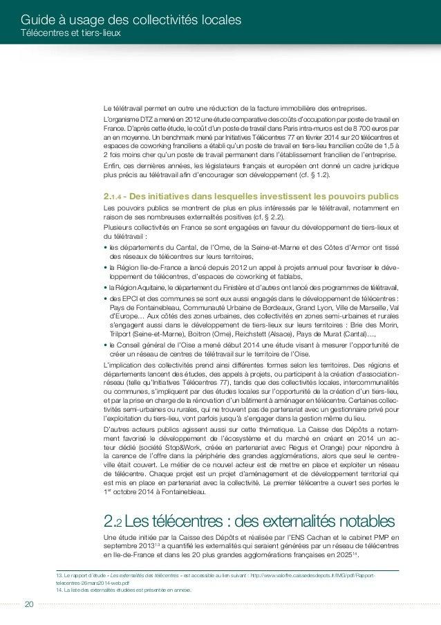 éditorial 2121 LES TéLéCENTRES, UNE DYNAMIQUE EN MARCHE Sur la base d'hypothèses prudentes, ce réseau serait constitué d'u...
