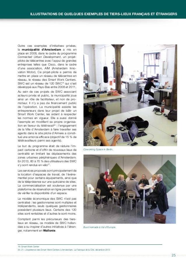 2626 Guide à usage des collectivités locales Télécentres et tiers-lieux En janvier 2011, un groupe de travail composé de m...