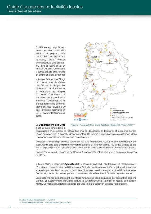 éditorial 2929 ILLUSTRATIONS DE QUELQUES EXEMPLES DE TIERS-LIEUX FRANÇAIS ET ÉTRANGERS Le Département comptait un réseau d...