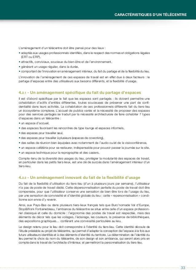 3434 Guide à usage des collectivités locales Télécentres et tiers-lieux L'étude de l'aménagement d'un télécentre montre do...