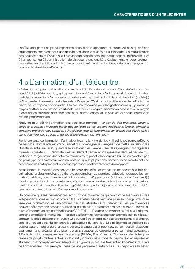 3636 Guide à usage des collectivités locales Télécentres et tiers-lieux Paris Région et Sénart ont ouvert des espaces de b...