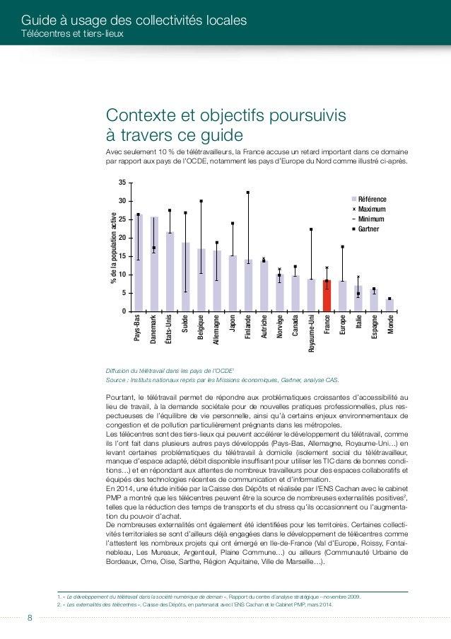 éditorial 9 Conscients des enjeux et de l'intérêt du travail à distance, des acteurs publics ont intégré les tiers- lieux ...