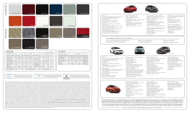 2015 honda civic brochure pdf