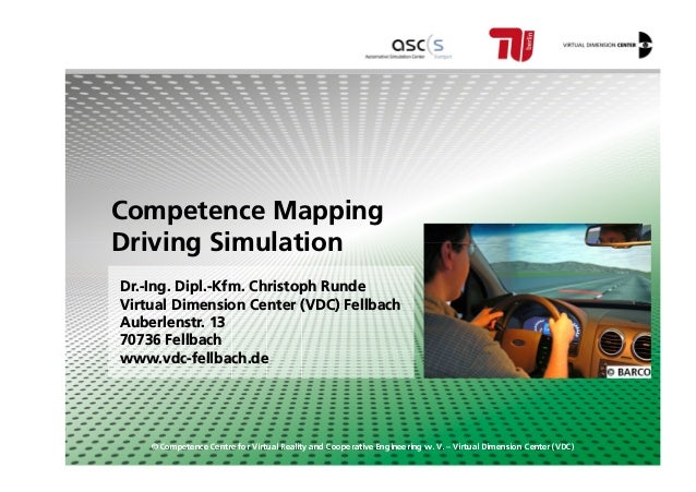 Competence Mapping Driving Simulation © Competence Centre for Virtual Reality and Cooperative Engineering w. V. – Virtual ...