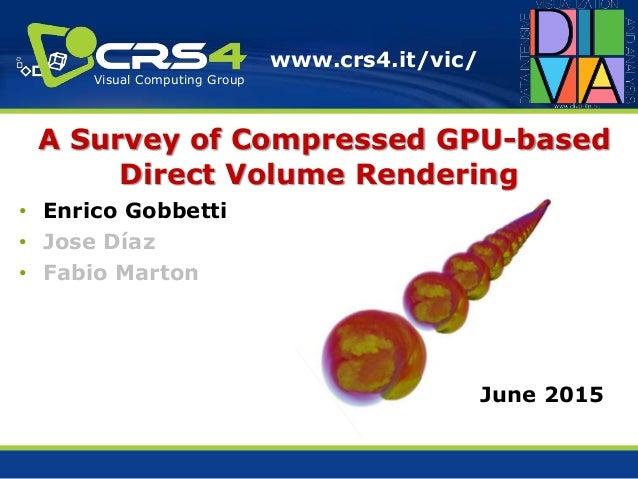 A Survey of Compressed GPU-based Direct Volume Rendering