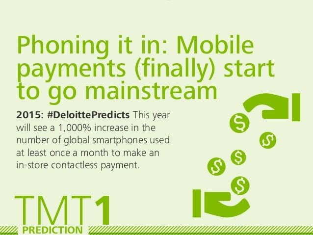 Deloitte TMT Predictions 2015 Slide 2