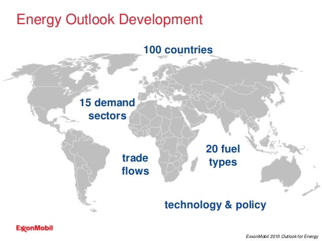 2 ExxonMobil 2015 Outlook for Energy trade flows Energy Outlook Development 100 countries 15 demand sectors 20 fuel types ...