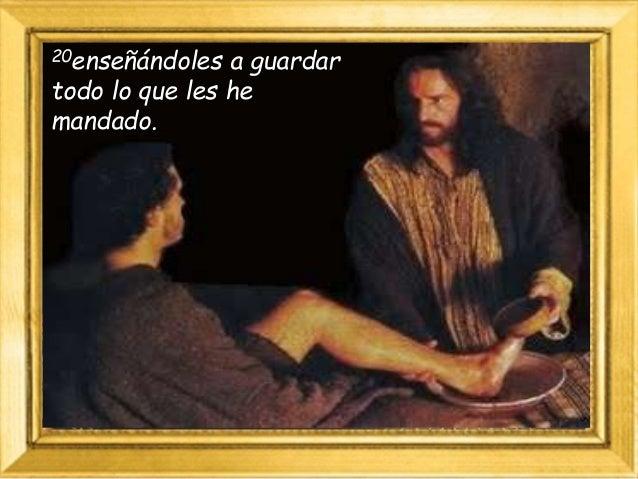 """Y sepan que yo estoy con ustedes todos los días hasta el fin del mundo"""". Palabra de Dios."""