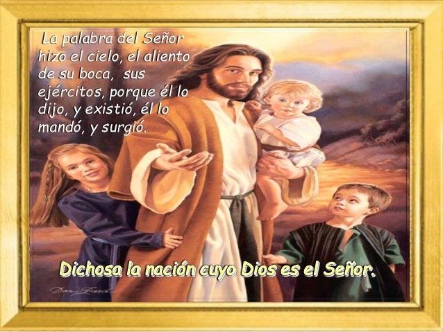 Nosotros aguardamos al Señor, él es nuestro auxilio y escudo; que tu misericordia, Señor, venga sobre nosotros, como lo es...