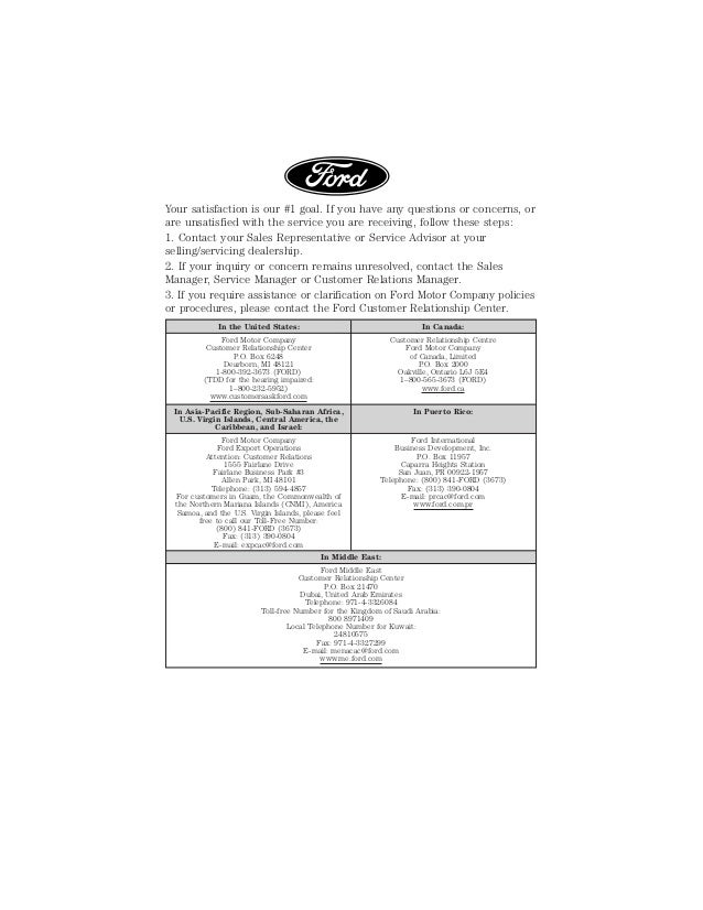 2015 model year ford warranty guide ford motor company
