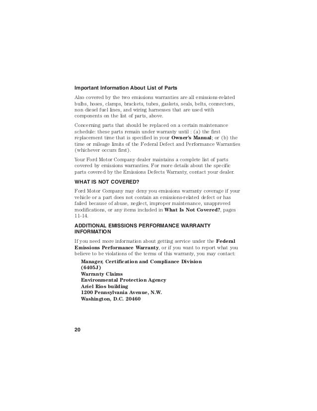 ... D.C. 20460 20; 25.  sc 1 st  SlideShare & 2015 Ford Hybrid Car Electric Vehicle Warranty Information Brochure- u2026 markmcfarlin.com