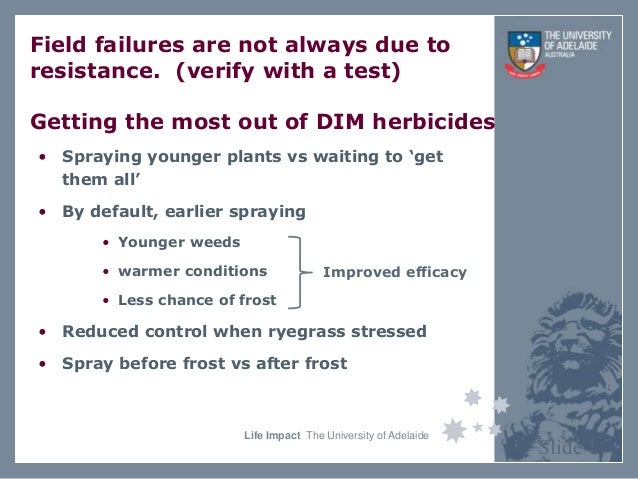 Life Impact The University of Adelaide Field failures are not always due to resistance. (verify with a test) Getting the m...