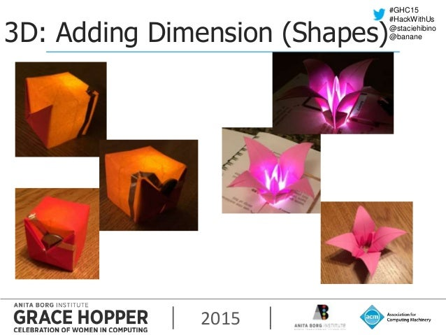 2015 #GHC15 #HackWithUs @staciehibino @banane3D: Adding Dimension (Shapes)