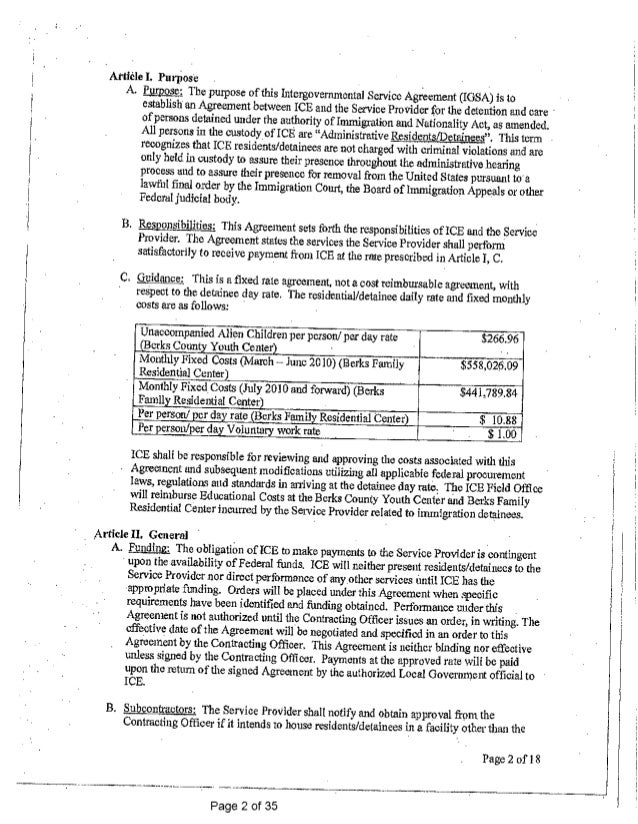 House Cleaning Service Agreement. Berks Child Jail Contract