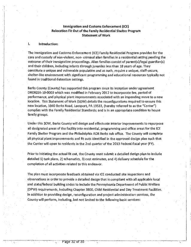 Berks Child Jail Contract